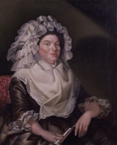 1789, Mrs. Elizabeth Sewall Salisbury, in her massive pile of linen.